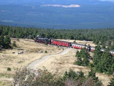 Harzer Schmalspurbahn auf dem Brocken